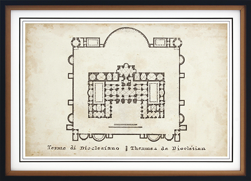 Plan For The Baths Of Diocletian
