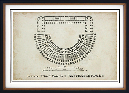 Plan For The Theatre Of Marcellus