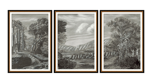Classical Landscape Triptych