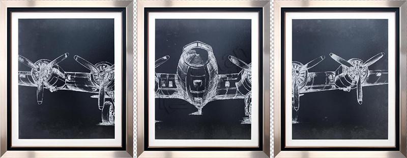 Graphic Plane Triptych