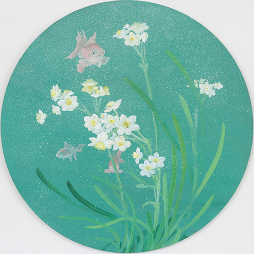Daffodils and goldfish
