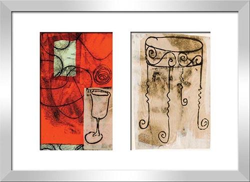 Orange Wine Glass &  Orange Wine Glass