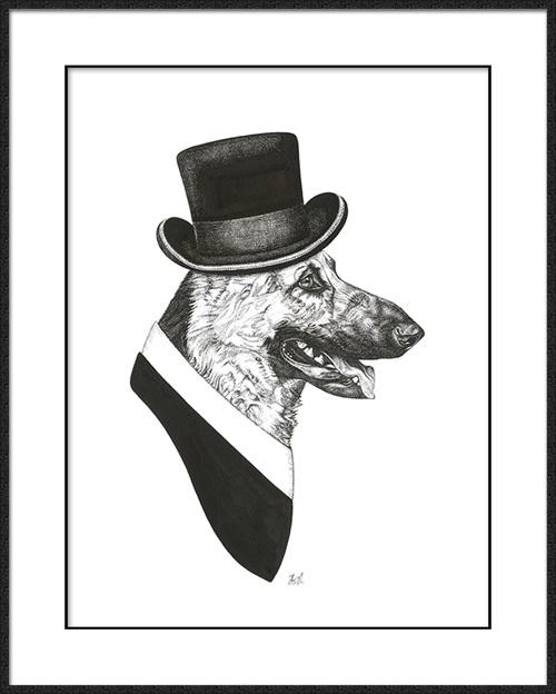 B & W Animal portrait II