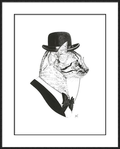 B & W Animal Portrait I