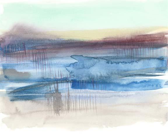 Burgundy Horizon I