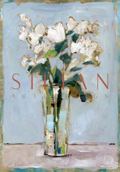 White Floral Arrangement I