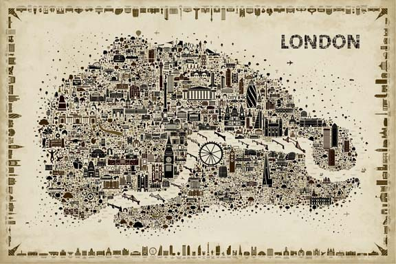 Antique Iconic Cities-London