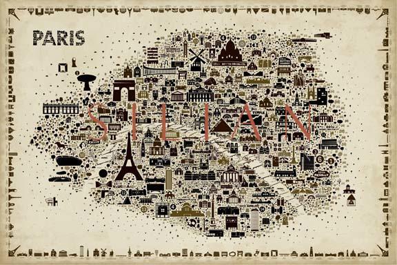 Antique Iconic Cities-Paris