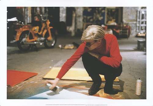 Andy With Spray Paint And Moped, The Factory, NYC, Circa
