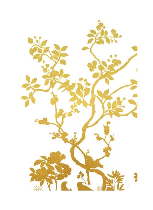 Gold Foil Nature Study II
