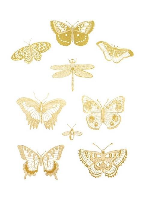 Gold Foil Nature Study III