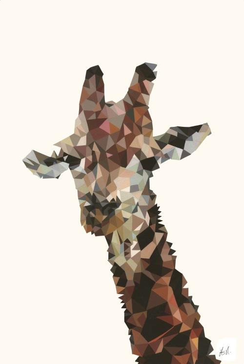 Coloured Geometric Splicing Animal VI