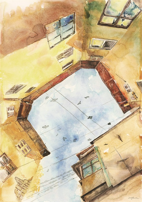 Watercolor Architecture III