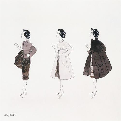 Untitled (Three Female Fashion Figures), c. 1959