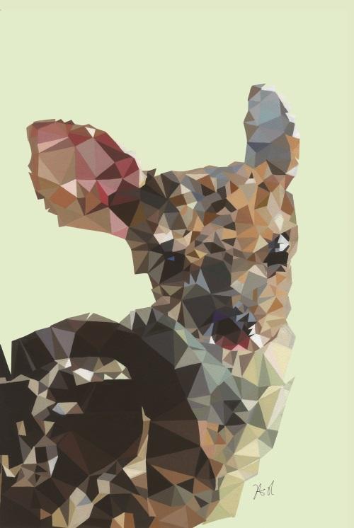 Coloured Geometric Splicing Animal III