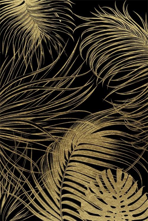 Black And Golden Plants V