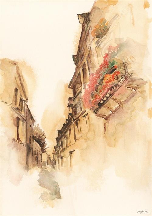 Watercolor Architecture I