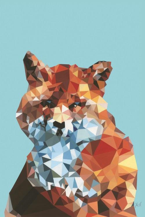 Coloured Geometric Splicing Animal V