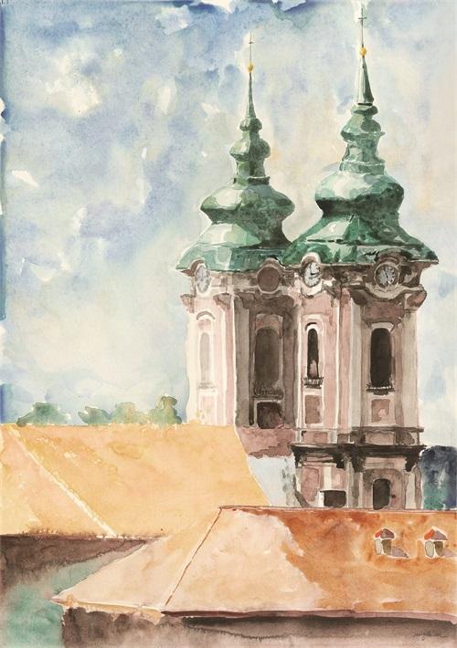 Watercolor Architecture II