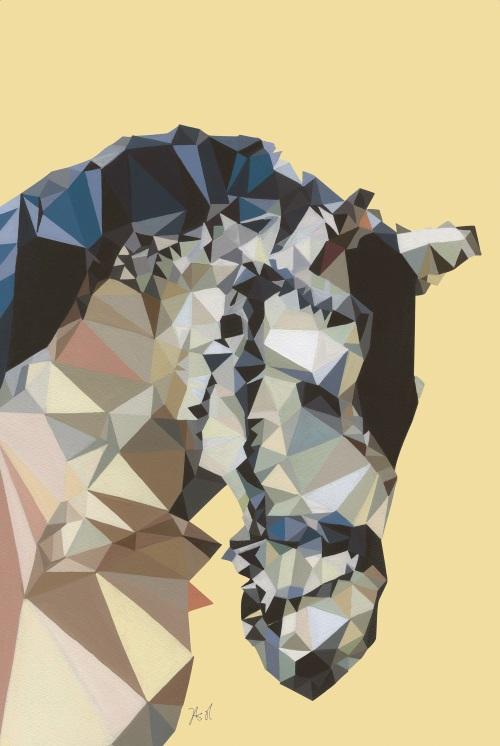 Coloured Geometric Splicing Animal I