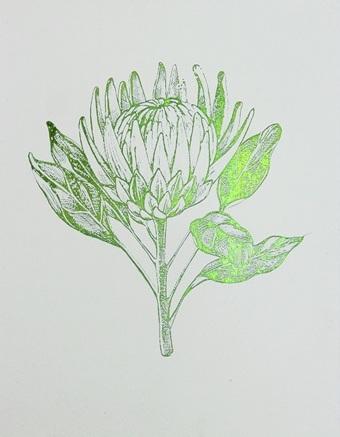 Green Foil Leaf Collection II