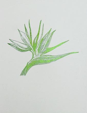 Green Foil Leaf Collection VII
