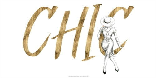 Gilded Fashion Figures I