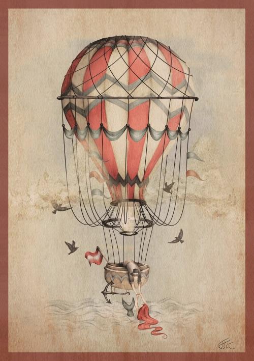 Vintage Hot Air Balloons II