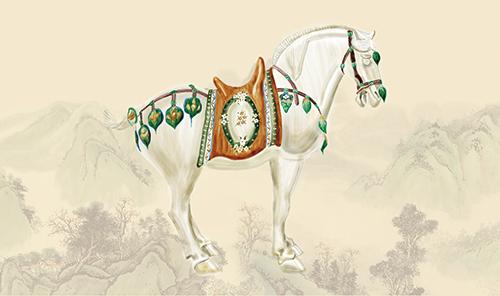 Tang Three-Color Glaze Horses Ⅰ