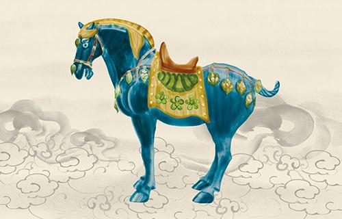 Tang Three-Color Glaze Horses Ⅱ