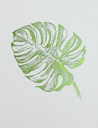 Green Foil Leaf Collection VIII