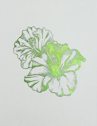 Green Foil Leaf Collection I