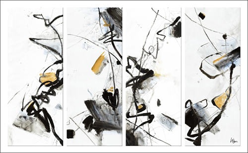 Line Abstract Oil Painting II
