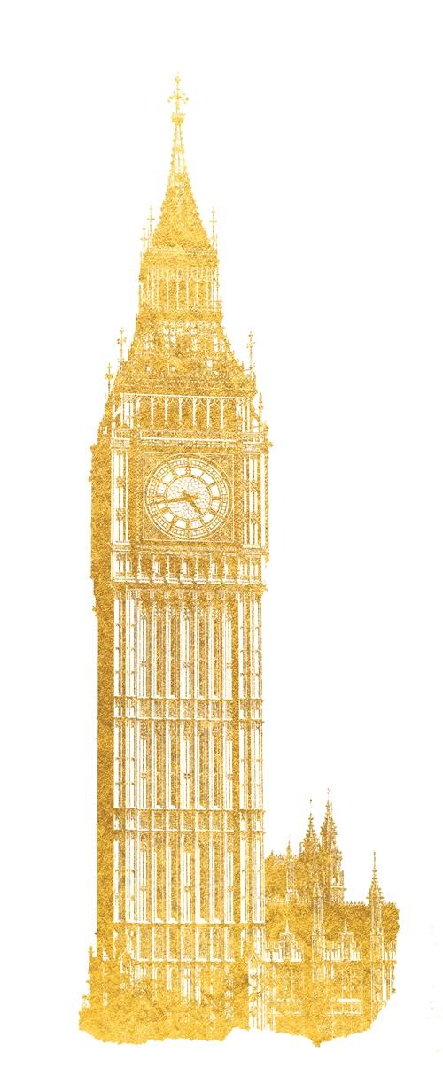 Gold Foil Building VII