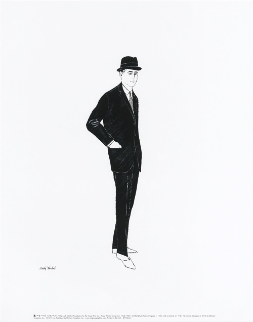 Untitled (Male Fashion Figure), c. 1960