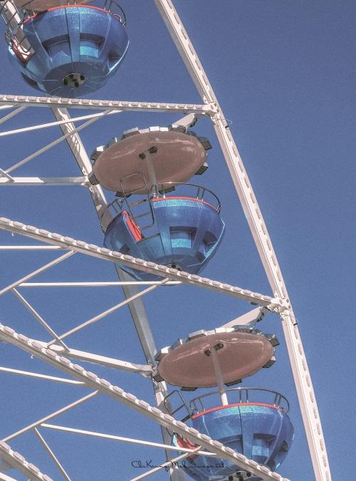 The Ferris Wheel Under Blue Sky