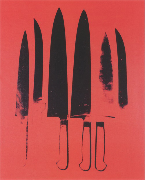 Knives, c. 1981-82 (Red)