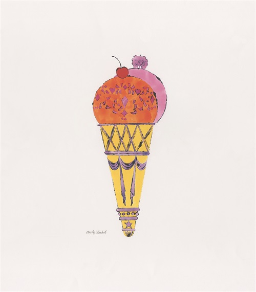 Ice Cream Dessert, c. 1959 (Red And Pink)