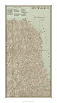 Tinted Map of San Francisco