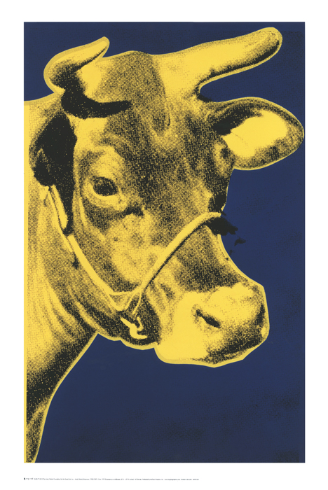 Cow, 1971 (Blue & Yellow)