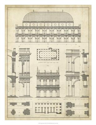 Vintage Architect's Plan IV