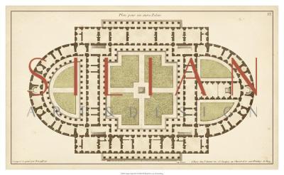 Antique Garden Plan I
