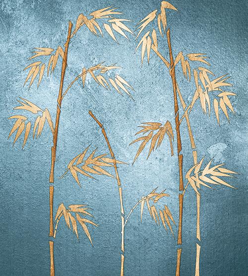 Golden Bamboo Tree VI