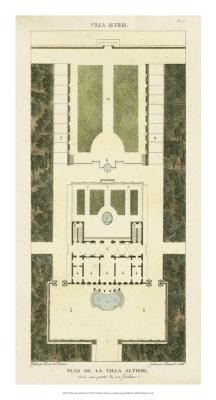 Plan De La Villa Altieri