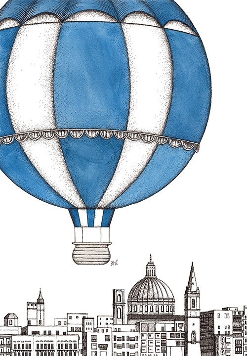 Hot Air Balloons And  Building III
