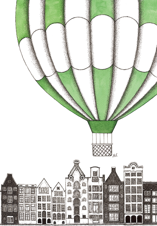 Hot Air Balloons And  Building II