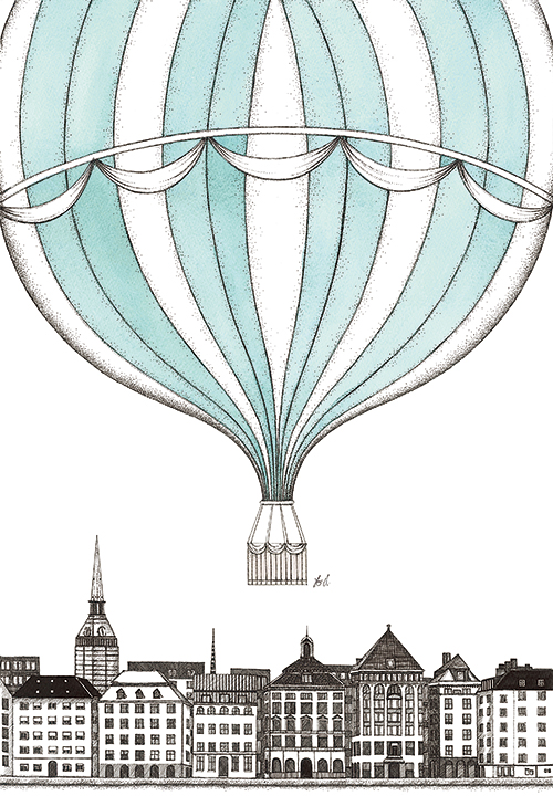 Hot Air Balloons And Building  IV