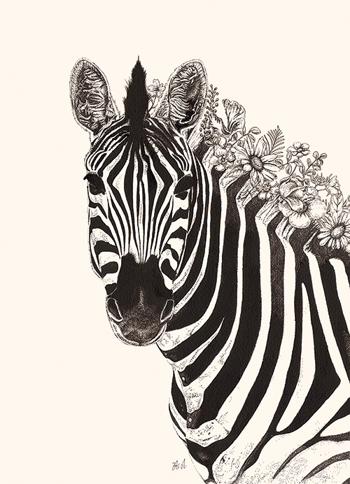 Black And White Animal Painting V