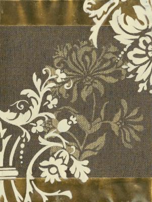 Grass Cloth Floral I
