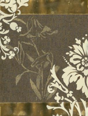 Grass Cloth Floral II